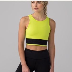 Lululemon Cropped Work Out Top